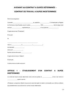 Avenant Au Contrat De Travail Modele D Avenant Legalplace