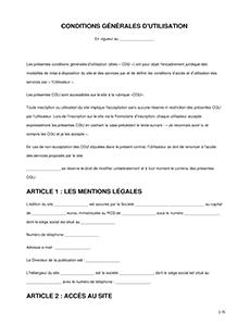 Conditions générales d'utilisation (gratuit)